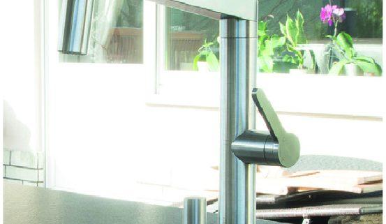 Elegant Mischbatterie Mit Schlauchbrause Panera S In Edelstahl (697,93 U20ac) U2013 MK2 Die  Gartenküche